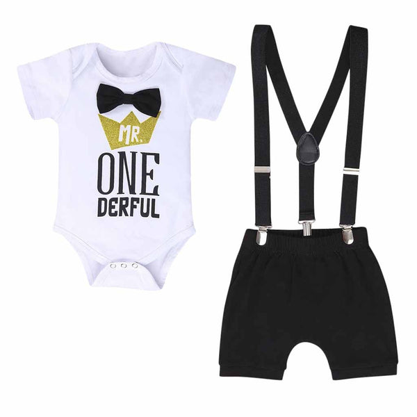 Baby Boys One Year Birthday Outfit