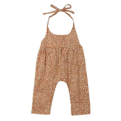 Toddler/ Baby Girl Sling Floral Print Jumpsuit