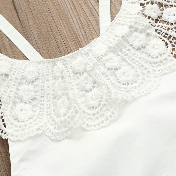 Baby Girl Lace Sleeveless Romper