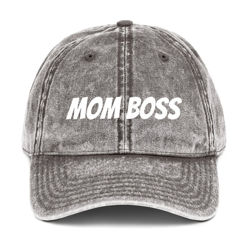 Mom Boss - Vintage Cotton Twill Cap