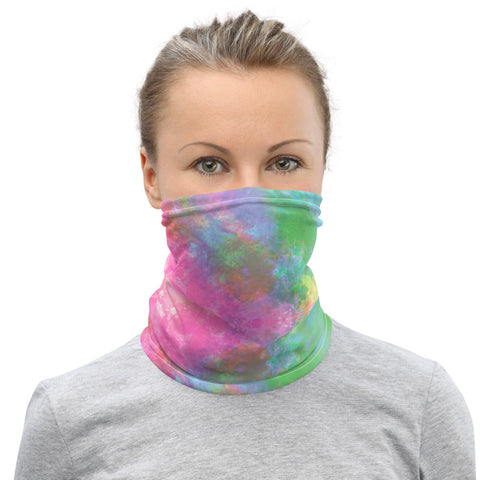Tie Dye Print Face Mask - Neck Gaiter