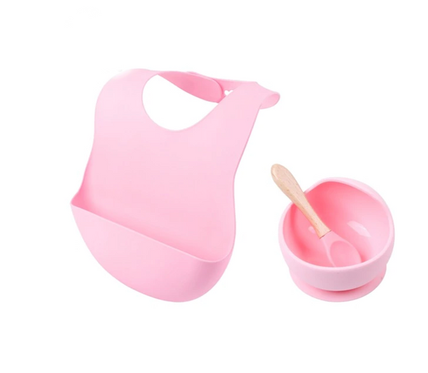 Silicone Baby Feeding Set 3 pc