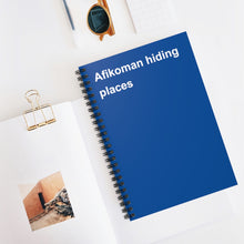 Load image into Gallery viewer, Afikomen Hiding Places Notebook