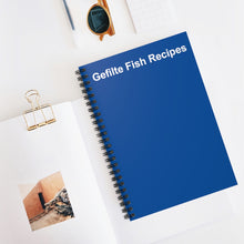 Load image into Gallery viewer, Gefilte Fish Recipes Notebook