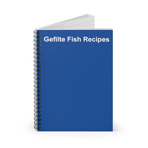 Gefilte Fish Recipes Notebook