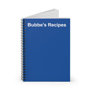 Bubbe's Recipes Notebook
