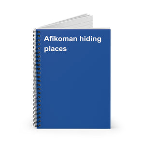 Afikomen Hiding Places Notebook
