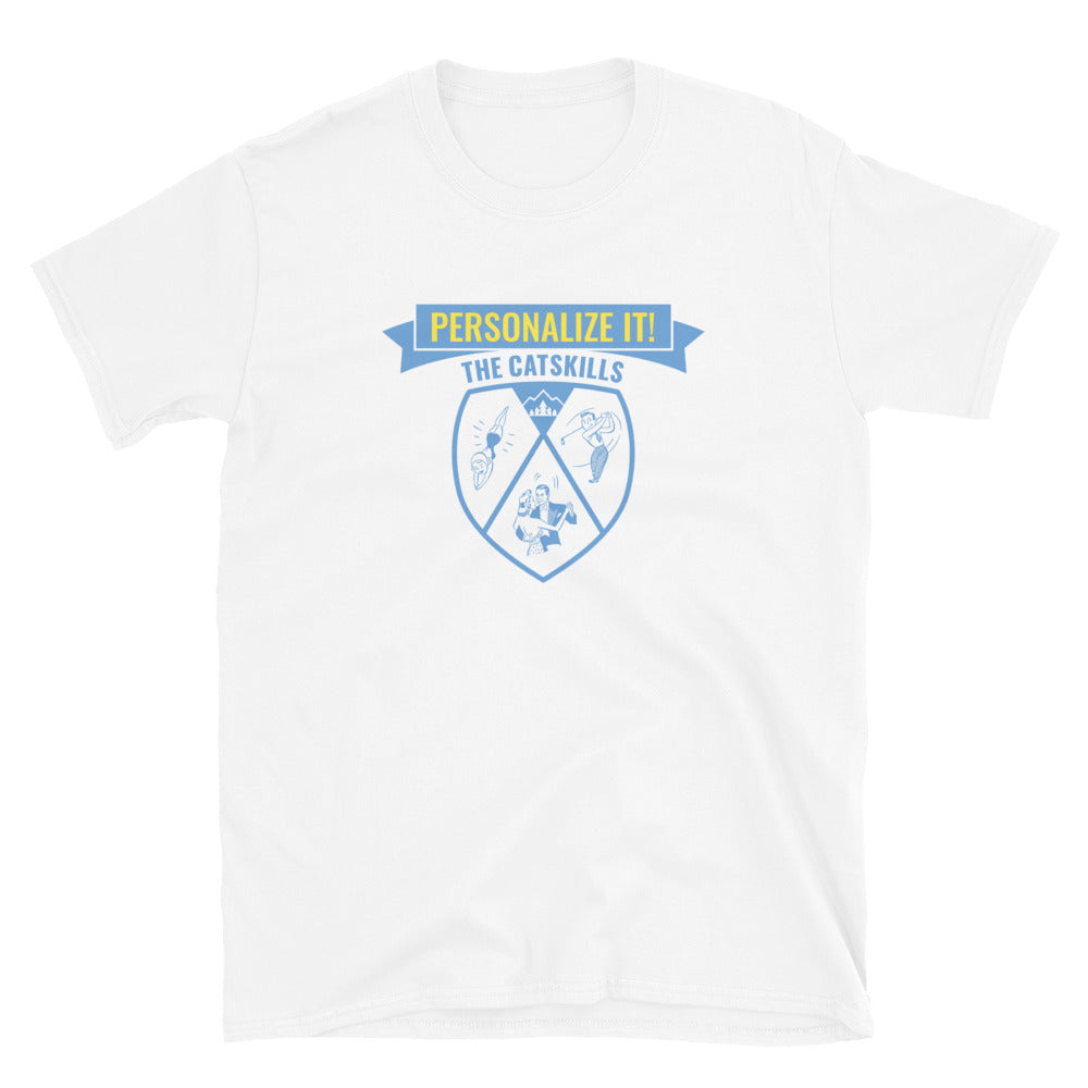 PERSONALIZE IT! Badge (Blue Print) Unisex T-Shirt