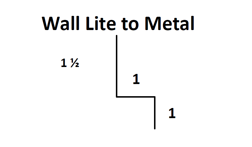 Exposed - Wall Lite to Metal