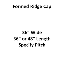 Commercial - Formed Ridge Cap