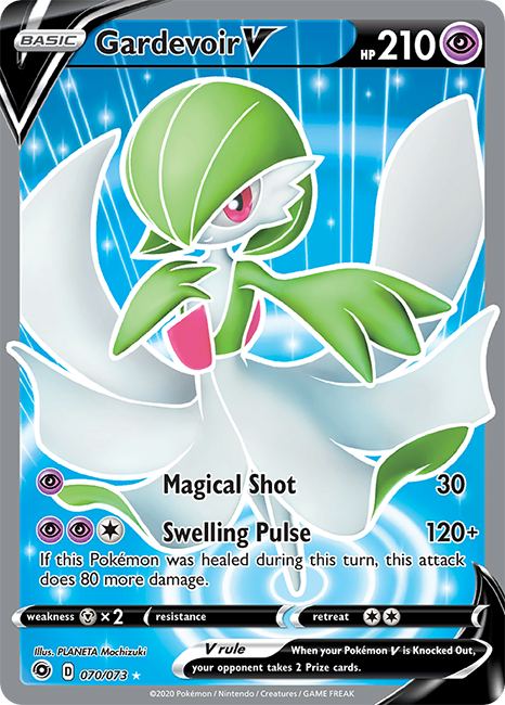 Gardevoir V Full Art (070/073) - Champion's Path - PokeRand