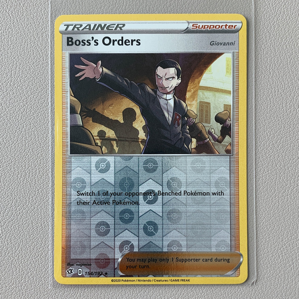Boss's Orders Rev. Holo (154/192) - Rebel Clash - PokeRand
