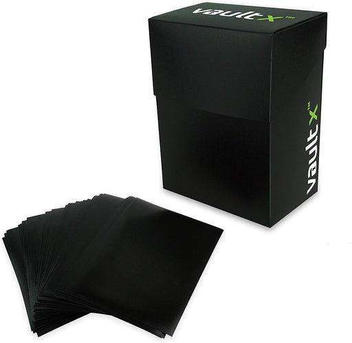 Vault X ® Large Deck Box and 150 Black Card Sleeves - Large Size for 100+ Sleeved Cards - PokeRand