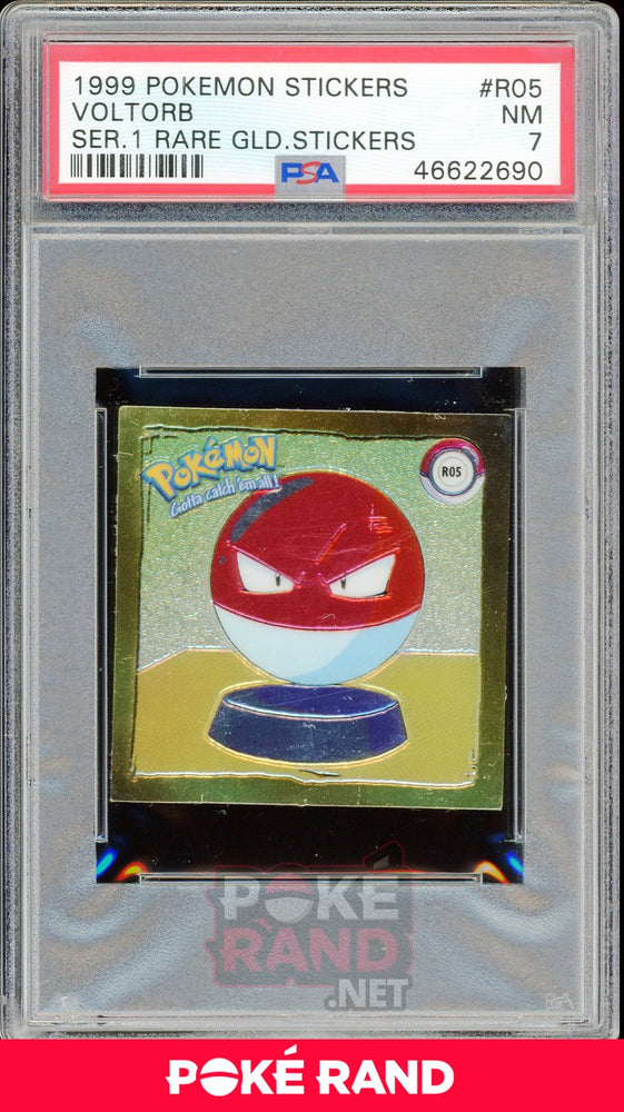 Voltorb R05 PSA 7 - Sticker - PokeRand