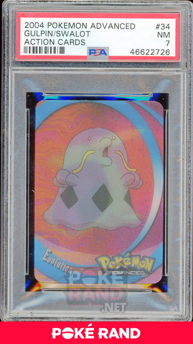 GULPIN/SWALOT PSA 7 - Advanced Action - PokeRand