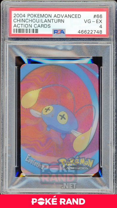 CHINCHOU/LANTURN PSA 4 - Advanced Action - PokeRand