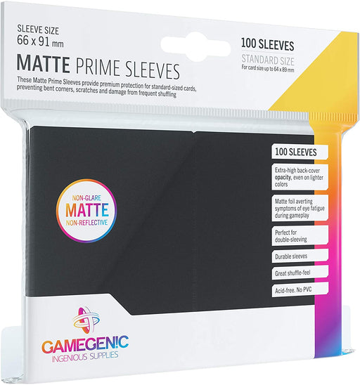 Gamegenic Matte Prime Sleeves - Black (100 Sleeves) - PokeRand