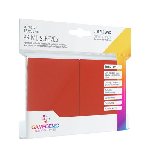 Gamegenic Prime Sleeves - Red (100 Sleeves) - PokeRand