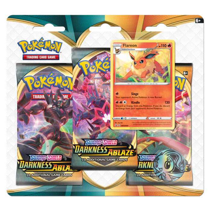 3 Pack Blister (Flareon) - Darkness Ablaze - PokeRand