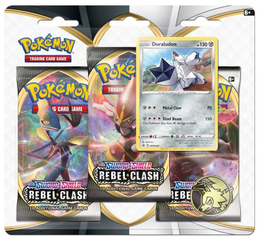 3 Pack Blister (Duraludon) - Rebel Clash - PokeRand
