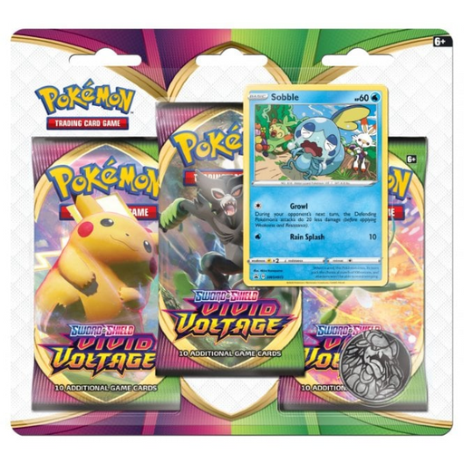 3 Pack Blister (Sobble) - Vivid Voltage - PokeRand