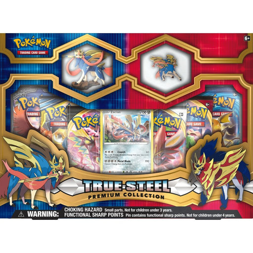 Zacian Figure & Pin True Steel Collection Box - PokeRand