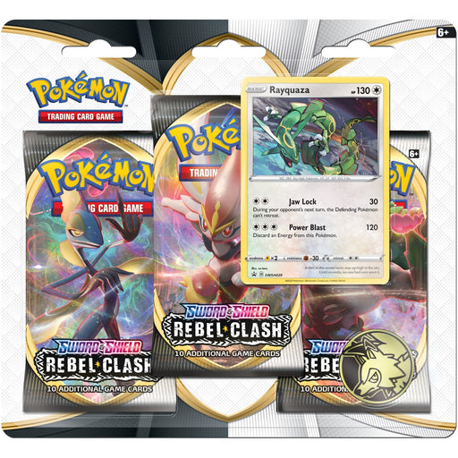 3 Pack Blister (Rayquaza) - Rebel Clash - PokeRand