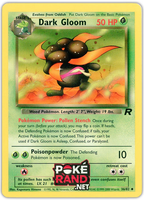 (36/82) Dark Gloom - Uncommon - Team Rocket - PokeRand