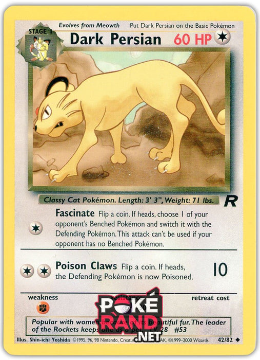 (42/82) Dark Persian - Uncommon - Team Rocket - PokeRand