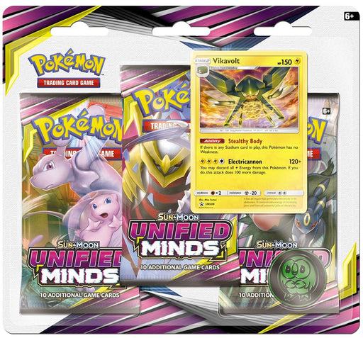 3 Pack Blister (Vikavolt) - Unified Minds - PokeRand
