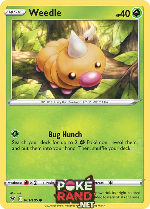 (001/185) Weedle - Common - Vivid Voltage - PokeRand