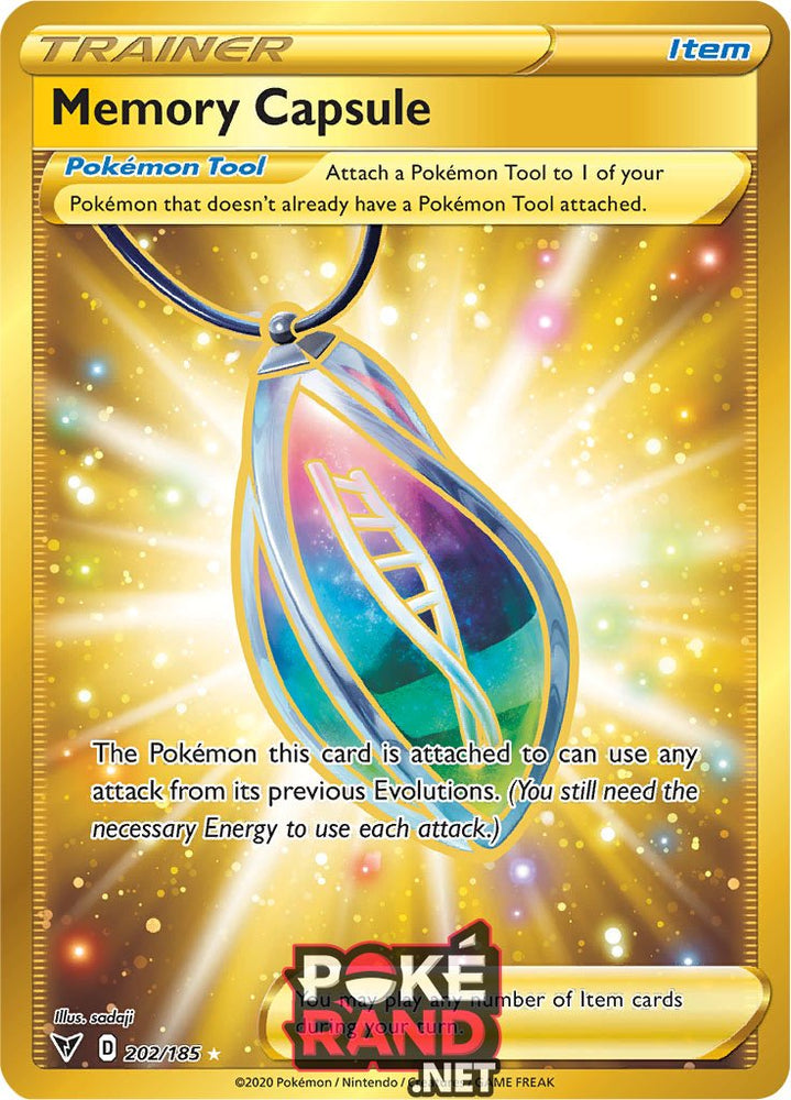 (202/185) Memory Capsule - Secret Rare - Vivid Voltage - PokeRand