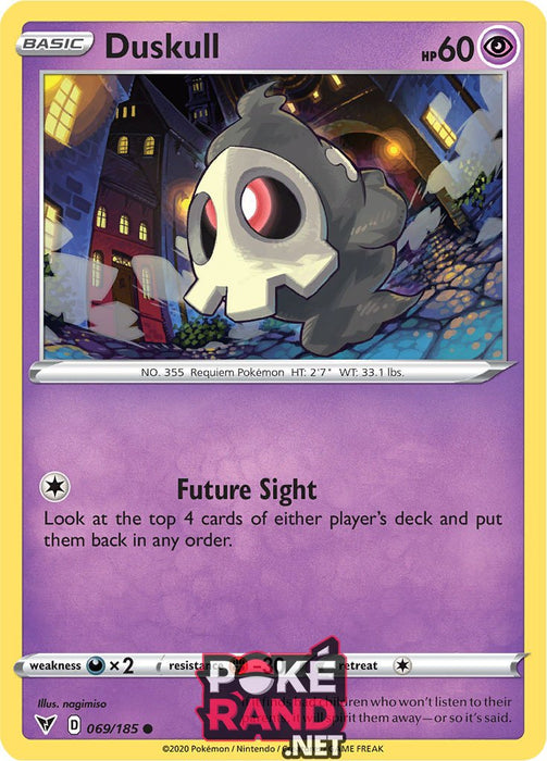 (069/185) Duskull - Common - Vivid Voltage - PokeRand