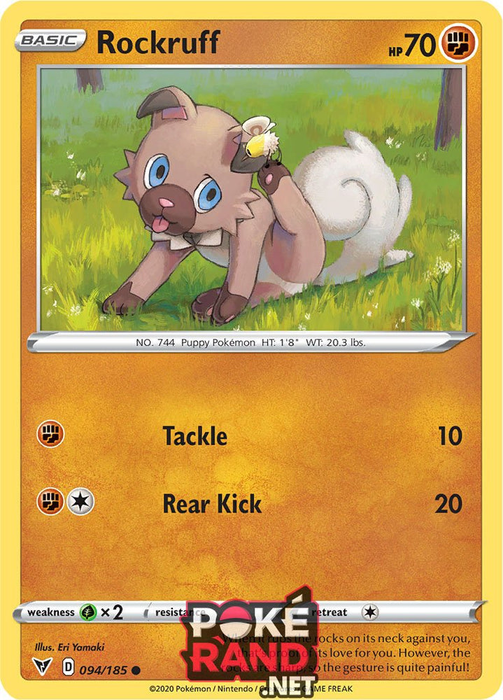 (094/185) Rockruff - Common - Vivid Voltage - PokeRand