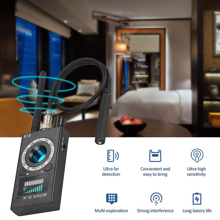 Anti Camera RF Scanner and Spy Bug Detector