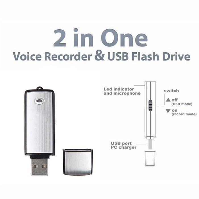 Voice Activated Digital USB Spy Hidden Voice Recorder