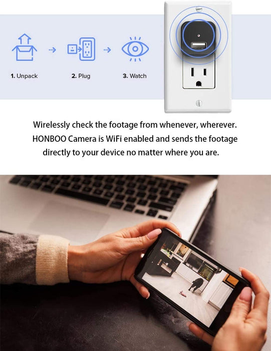 USB charger mini wireless spy camera