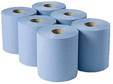 Blue Centre Feed 2Ply Paper - Autoklass Cleaning Solutions