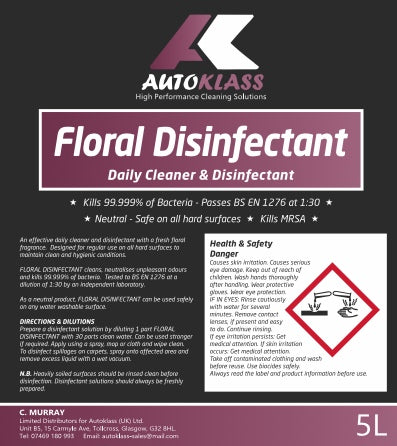 Floral Disinfectant - Autoklass Cleaning Solutions