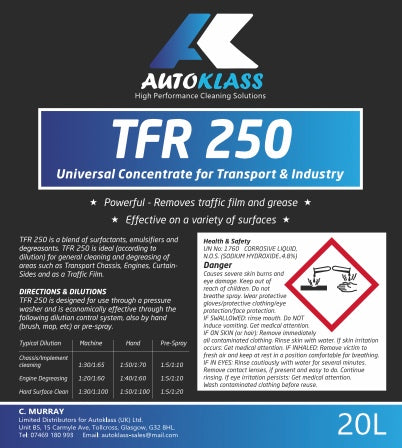 TFR 250 - Autoklass Cleaning Solutions