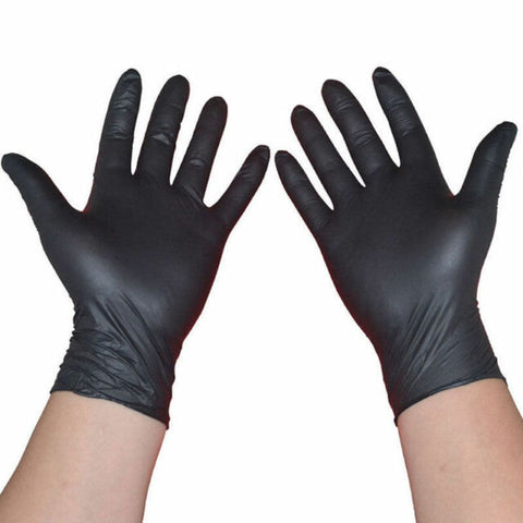 Black Nitrile Disposable Gloves Powder Free X 100 - Autoklass Cleaning Solutions
