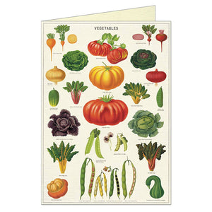 Vegtable Garden Greeting Card and Envelope