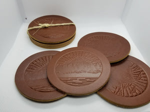 Leather Coaster Set Lifetime Leather