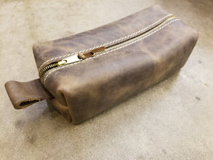 Unlined Leather Shave Bag Lifetime Leather