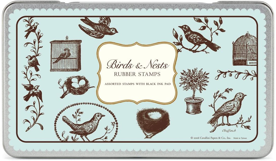 Birds & Nests Rubber Stamps - Cavallini