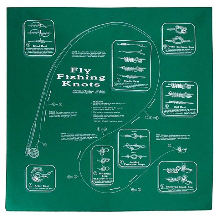 The Printed Image - Fly Fishing Knots Bandana
