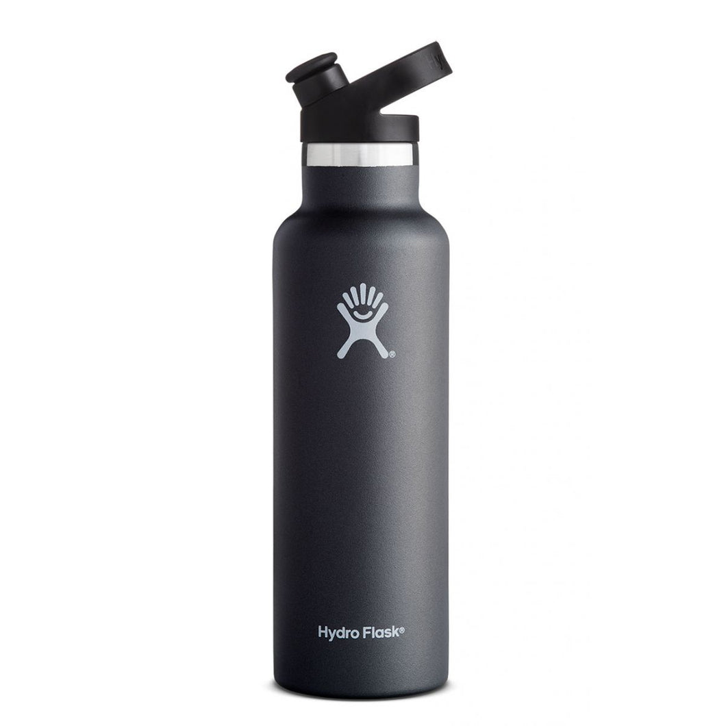 Hydro Flask - 21 OZ Standard Mouth Sport Cap Black