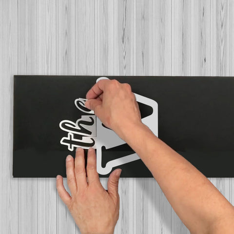 How to Line up Stencil Letters for DIY Porch Sign