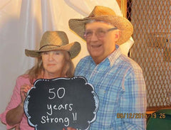 My In-Laws at their 50th Anniversary Party and the Chalkboard Photo Booth prop