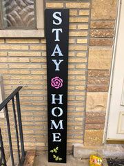 Customer picture of their DIY Plata Chalkboard - Stay Home Outdoor Sign